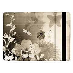 Vintage, Wonderful Flowers With Dragonflies Samsung Galaxy Tab Pro 12 2  Flip Case