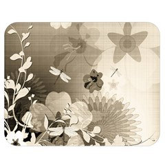 Vintage, Wonderful Flowers With Dragonflies Double Sided Flano Blanket (Medium)
