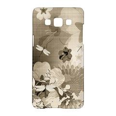 Vintage, Wonderful Flowers With Dragonflies Samsung Galaxy A5 Hardshell Case