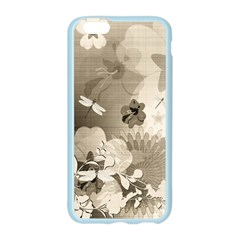 Vintage, Wonderful Flowers With Dragonflies Apple Seamless iPhone 6/6S Case (Color)