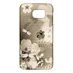 Vintage, Wonderful Flowers With Dragonflies Galaxy S6