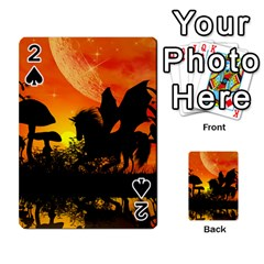 Beautiful Unicorn Silhouette In The Sunset Playing Cards 54 Designs