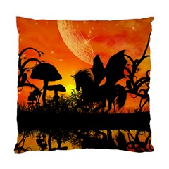 Beautiful Unicorn Silhouette In The Sunset Standard Cushion Case (one Side)