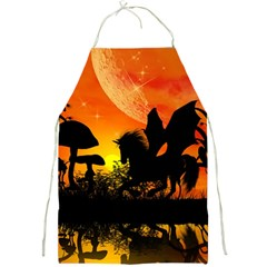 Beautiful Unicorn Silhouette In The Sunset Full Print Aprons