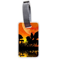 Beautiful Unicorn Silhouette In The Sunset Luggage Tags (Two Sides)
