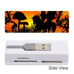 Beautiful Unicorn Silhouette In The Sunset Memory Card Reader (stick)