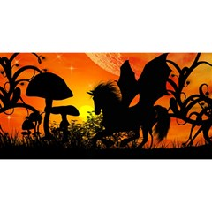 Beautiful Unicorn Silhouette In The Sunset YOU ARE INVITED 3D Greeting Card (8x4)