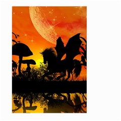 Beautiful Unicorn Silhouette In The Sunset Large Garden Flag (Two Sides)