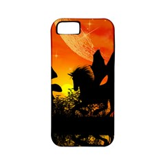 Beautiful Unicorn Silhouette In The Sunset Apple iPhone 5 Classic Hardshell Case (PC+Silicone)