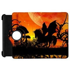 Beautiful Unicorn Silhouette In The Sunset Kindle Fire HD Flip 360 Case