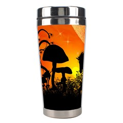 Beautiful Unicorn Silhouette In The Sunset Stainless Steel Travel Tumblers