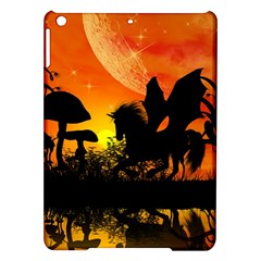 Beautiful Unicorn Silhouette In The Sunset iPad Air Hardshell Cases