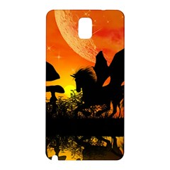Beautiful Unicorn Silhouette In The Sunset Samsung Galaxy Note 3 N9005 Hardshell Back Case