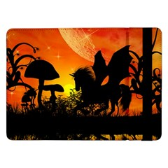 Beautiful Unicorn Silhouette In The Sunset Samsung Galaxy Tab Pro 12.2  Flip Case