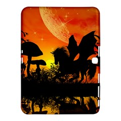 Beautiful Unicorn Silhouette In The Sunset Samsung Galaxy Tab 4 (10 1 ) Hardshell Case