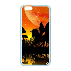 Beautiful Unicorn Silhouette In The Sunset Apple Seamless iPhone 6/6S Case (Color)