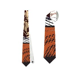Microphone With Piano And Floral Elements Neckties (two Side)