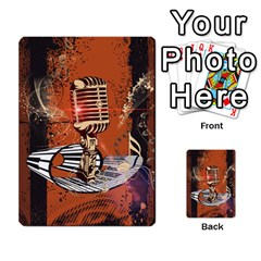 Microphone With Piano And Floral Elements Multi Purpose Cards (rectangle)