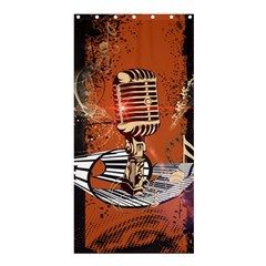 Microphone With Piano And Floral Elements Shower Curtain 36  x 72  (Stall)