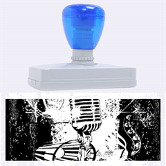 Microphone With Piano And Floral Elements Rubber Address Stamps (xl)