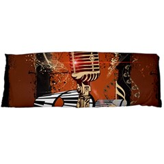 Microphone With Piano And Floral Elements Body Pillow Cases (Dakimakura)