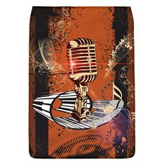 Microphone With Piano And Floral Elements Flap Covers (S)
