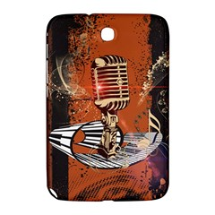 Microphone With Piano And Floral Elements Samsung Galaxy Note 8.0 N5100 Hardshell Case