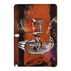 Microphone With Piano And Floral Elements Samsung Galaxy Tab Pro 12.2 Hardshell Case