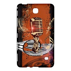 Microphone With Piano And Floral Elements Samsung Galaxy Tab 4 (8 ) Hardshell Case