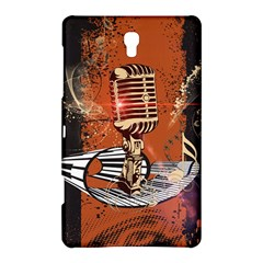 Microphone With Piano And Floral Elements Samsung Galaxy Tab S (8.4 ) Hardshell Case