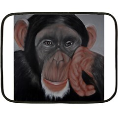 The Thinker Double Sided Fleece Blanket (Mini)