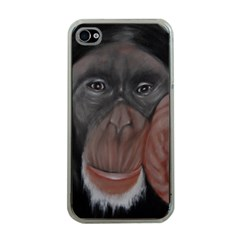 The Thinker Apple iPhone 4 Case (Clear)