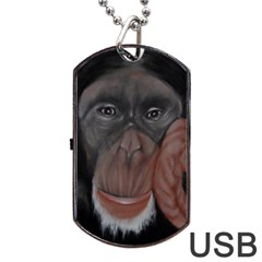 The Thinker Dog Tag USB Flash (Two Sides)