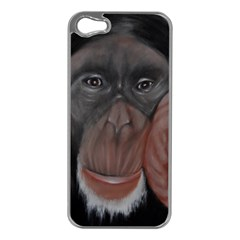The Thinker Apple iPhone 5 Case (Silver)