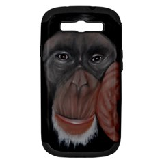 The Thinker Samsung Galaxy S III Hardshell Case (PC+Silicone)