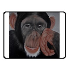The Thinker Double Sided Fleece Blanket (small)