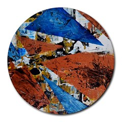 Triangles Round Mousepads