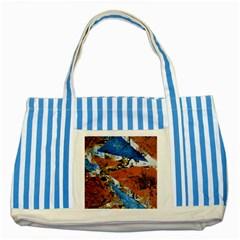 Triangles Striped Blue Tote Bag