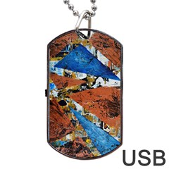 Triangles Dog Tag USB Flash (One Side)