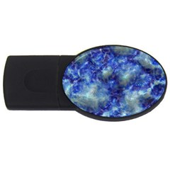 Alien DNA Blue USB Flash Drive Oval (1 GB)