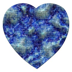 Alien DNA Blue Jigsaw Puzzle (Heart)