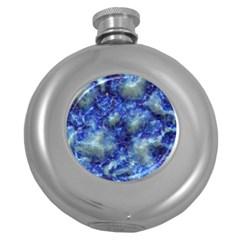 Alien DNA Blue Round Hip Flask (5 oz)