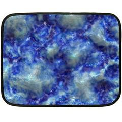 Alien Dna Blue Fleece Blanket (mini)