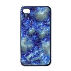 Alien DNA Blue Apple iPhone 4 Case (Black)