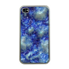 Alien DNA Blue Apple iPhone 4 Case (Clear)