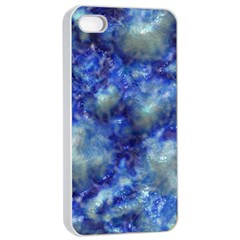 Alien DNA Blue Apple iPhone 4/4s Seamless Case (White)