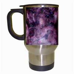 Alien Dna Purple Travel Mugs (White)