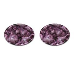 Alien Dna Purple Cufflinks (Oval)