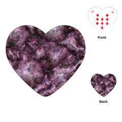 Alien Dna Purple Playing Cards (heart)