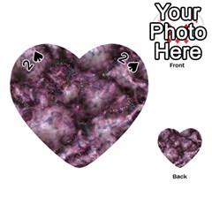 Alien Dna Purple Playing Cards 54 (heart)